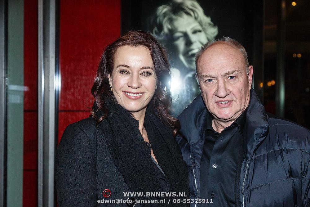 NLD/Amsterdam/20160203 - Premiere Simone, Henk Poort en partner Marjolein Keuning
