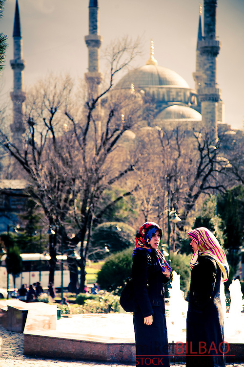 Sultan Ahmed Mosque.<br /> Istanbul, Turkey.