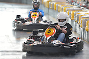 Racing driver Tomasz Kuchar while GoKarts Racing on F1 Karting Track four days before the BNP Paribas Davis Cup 2014 between Poland and Croatia in Warsaw on March 31, 2014.<br /> <br /> Poland, Warsaw, March 31, 2014<br /> <br /> Picture also available in RAW (NEF) or TIFF format on special request.<br /> <br /> For editorial use only. Any commercial or promotional use requires permission.<br /> <br /> Mandatory credit:<br /> Photo by &copy; Adam Nurkiewicz / Mediasport