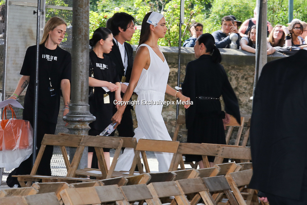 Irina Shayk - TOP MODEL IN THE PARADE GIVENCHY MEN - READY TO WEAR - PARIS FASHION WEEK<br /> &copy;Exclusivepix Media