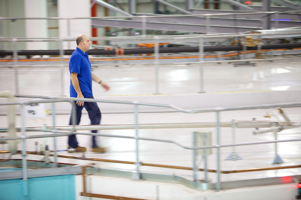 Australian Synchrotron, Colin walking on top of Beam Line.