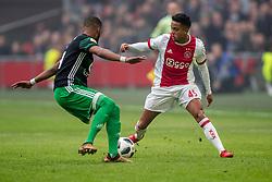 21-01-2018 NED: AFC Ajax - Feyenoord, Amsterdam<br /> Ajax was met 2-0 te sterk voor Feyenoord / Justin Kluivert #45 of AFC Ajax
