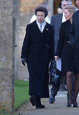 DEC 19 2014 Princess Anne attends the funeral of Sarah Staples