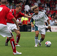 Photo: Paul Thomas.<br /> Crewe Alexandra v Liverpool. Pre Season Friendly. 22/07/2006.<br /> <br /> Liverpool's Boudewijn Zenden takes on the Crewe defence.