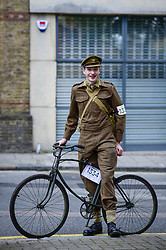 May 4, 2019 - London, UK - LONDON, UK.  Participants prepare to take part in the annual Tweed Run.  The 12 mile ride takes in landmarks around central London, with stops for tea en route, and all with riders in vintage dress. (Credit Image: © Stephen Chung/London News Pictures via ZUMA Wire)
