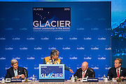 August 31, 2015: Mr. Lee Stephan, Tribal Chief from Eklutna, speaks during the opening plenary of the Global Leadership in the Arctic Cooperation, Innovation, Engagement & Resilience conference.