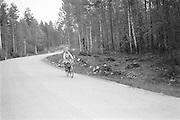 Cyklist i vänstertrafik