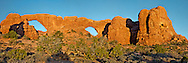 Window Arches, Arches National Park, Moab, Utah