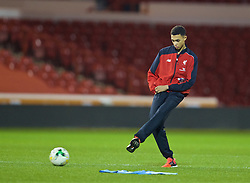 NOTTINGHAM, ENGLAND - Thursday, February 4, 2016: Liverpool's Trent Alexander-Arnold on the pitch ahead of the FA Youth Cup 5th Round match against Nottingham Forest at the City Ground. (Pic by David Rawcliffe/Propaganda)