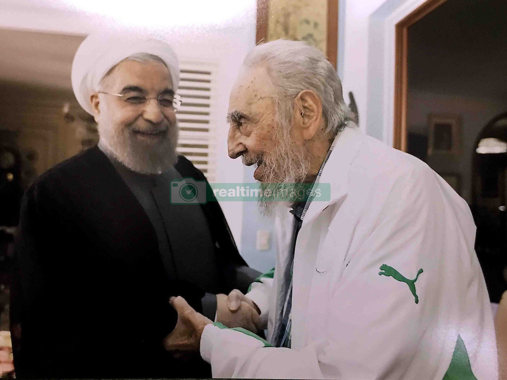 Iranian President Hasan Rohani meets former Cuban President Fidel Castro in his house of Havana, in Cuba, on September 19, 2016. Photo by ParsPix/ABACAPRESS.COM