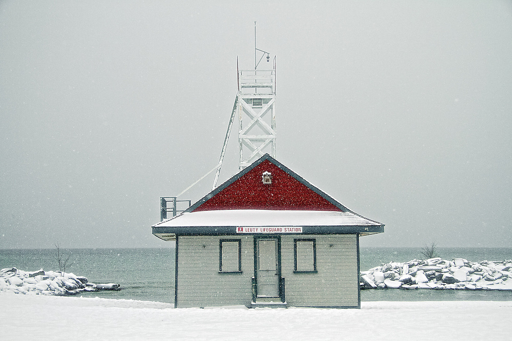 Since it was built in 1920 by Chapman and Oxley architects, the Leuty Lifeguard Station has helped to save thousands of lives. Over the years it has been moved four times to keep it close to Lake Ontario's edge. During the 1980's the Leuty had fallen into disrepair and was threatened with demolition. Local residents formed S.O.S. (Save Our Station), and enough money was raised to restore the structure. It has since been declared an important historic site by the Toronto (Canada) Historical Board.