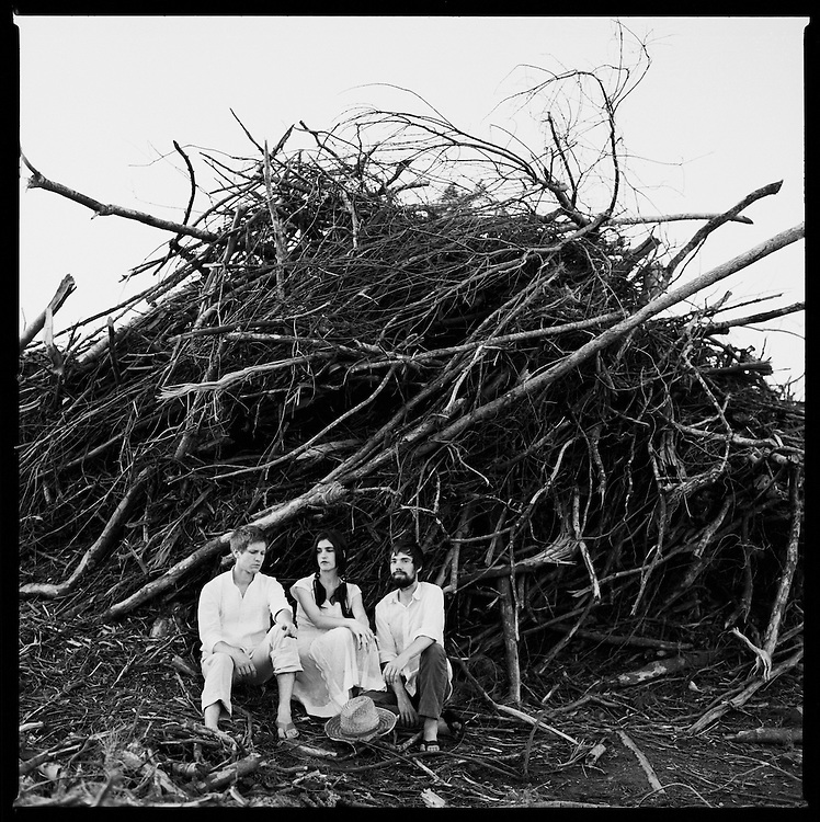 Bowerbirds, from left, Mark Paulson, Beth Tacular and Phil Moore. <br /> Photo by DL Anderson