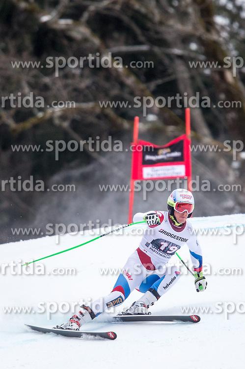 27.02.2015, Kandahar, Garmisch Partenkirchen, GER, FIS Weltcup Ski Alpin, Abfahrt, Herren, 2. Training, im Bild Carlo Janka (SUI) // Carlo Janka of Switzerland in action during the 2nd trainings run for the men's Downhill of the FIS Ski Alpine World Cup at the Kandahar course, Garmisch Partenkirchen, Germany on 2015/27/02. EXPA Pictures © 2015, PhotoCredit: EXPA/ Johann Groder