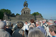 The Deutsches Eck (German Corner), confluence of Rhine and Moselle. Staue of Emperor Wilhelm...M.S. Johann Strauss, a brand new four star+ river cruiser operated by Austrian River Cruises, and chartered by Club 50 (a travel agency especially for seniors aged 50 and up) undertook an epic 3-week journey (May 21 to June 10, 2004) all the way from Amsterdam to the Black Sea?along Rhine, Main and Danube?, presumably the first passenger vessel ever to have done so. This is one of the images recorded during this historic voyage.