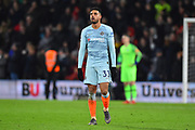 Emerson Palmieri (33) of Chelsea looks dejected after Bournemouth go 4-0 up during the Premier League match between Bournemouth and Chelsea at the Vitality Stadium, Bournemouth, England on 30 January 2019.