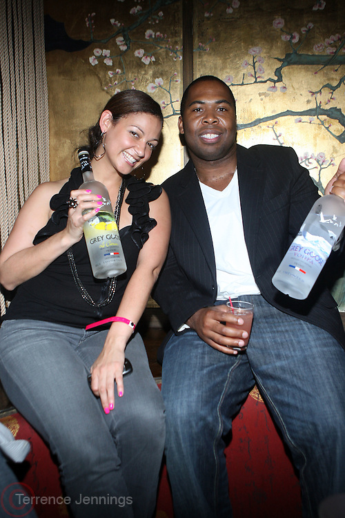 l to r: Jasmine Franjel and Chauncy Hamlett at ' Rising Icons ' featuring The Dream presented by Grey Goose, Complex Magazine & BET held at The Hiro Ballroom on July 30, 2009 in New York City