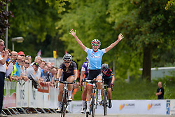 Kasia Niewiadoma (Rabo Liv) wins at the 123 km Stage 3 of the Boels Ladies Tour 2016 on 1st September 2016 in Sittard Geleen, Netherlands. (Photo by Sean Robinson/Velofocus).