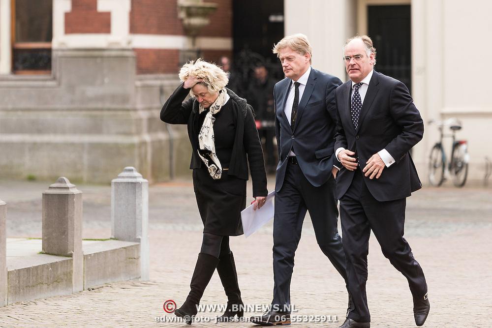 NLD/Utrecht/20140215 - Herdenkingsdienst Els Borst in de Domkerk, Staatssecretaris Martin van Rijn van Volksgezondheid , Welzijn en Sport