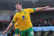 Bristol - Saturday November 7th, 2009: Chris Martin of Norwich City celebrates his goal against Paulton Rovers during the FA Cup 1st round match at Paulton. (Pic by Alex Broadway/Focus Images)..
