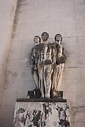 Statue figures in Praca da Porta Ferrea, Coimbra University, Portugal.