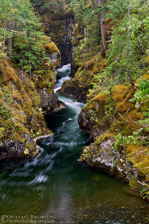 The Little Qualicum River at Little Qualicum Falls Provincial Park in the Nanaimo Regional District, British Columbia, Canada