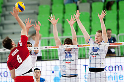 Bartosz Kurek #6 of Poland during volleyball match between National teams of Slovenia and Poland in 4th Qualification game of CEV European Championship 2015 on May 23, 2014 in Arena Stozice, Ljubljana, Slovenia. Photo by Urban Urbanc / Sportida