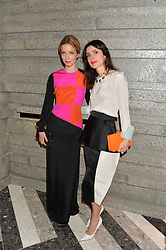 Left to right, ANNABELLE WALLIS and LARA BOHINC at the opening of Roksanda - the new Mayfair Store for designer Roksanda Ilincic at 9 Mount Street, London on 10th June 2014.