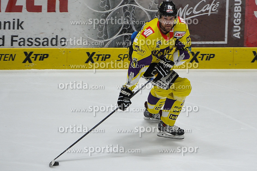 27.02.2015, Curt-Fenzel-Stadion, Augsburg, GER, DEL, Augsburger Panther vs Krefeld Pinguine, 51. Runde, im Bild Joel Perrault (Krefeld Pinguine) 26, Aktion Einzelbild Freisteller // during Germans DEL Icehockey League 51st round match between Augsburger Panther and Krefeld Pinguineg at the Curt-Fenzel-Stadion in Augsburg, Germany on 2015/02/27. EXPA Pictures &copy; 2015, PhotoCredit: EXPA/ Eibner-Pressefoto/ Schreyer<br /> <br /> *****ATTENTION - OUT of GER*****