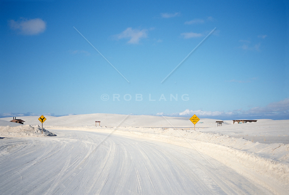Roadway in White Sands National Park, NM