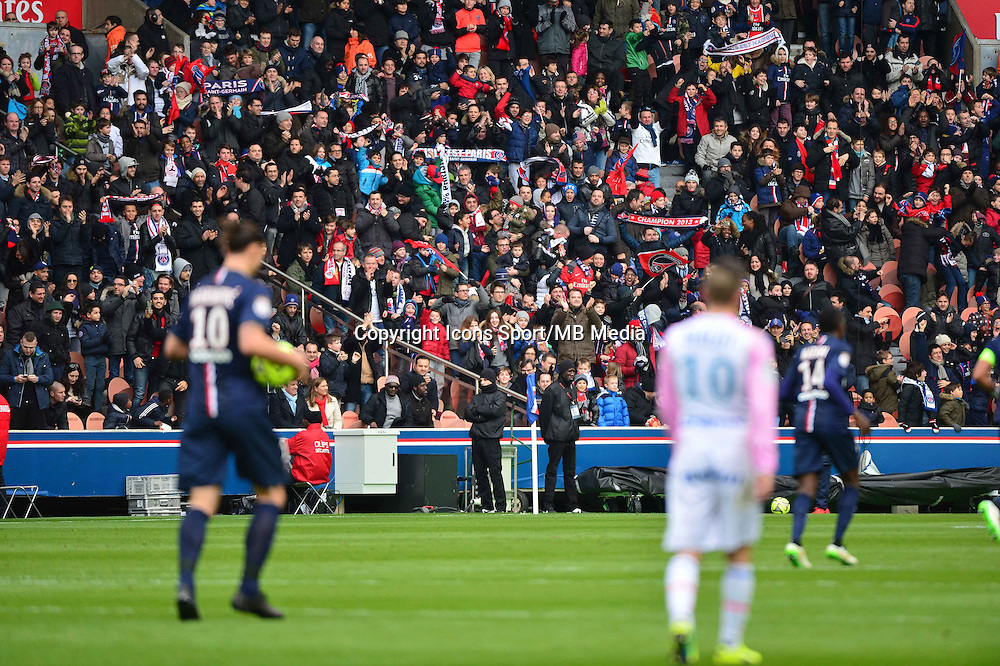 Supporters PSG - 18.01.2015 - Paris Saint Germain / Evian Thonon - 21eme journee de Ligue 1<br />