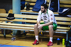 Grabarr Blaž of Panvita Pomgrad waiting to be substituted during volleyball match between Panvita Pomgrad and Šoštanj Topolšica of 1. DOL Slovenian National Championship 2019/20, on December 14, 2019 in Osnovna šola I, Murska Sobota, Slovenia. Photo by Blaž Weindorfer / Sportida
