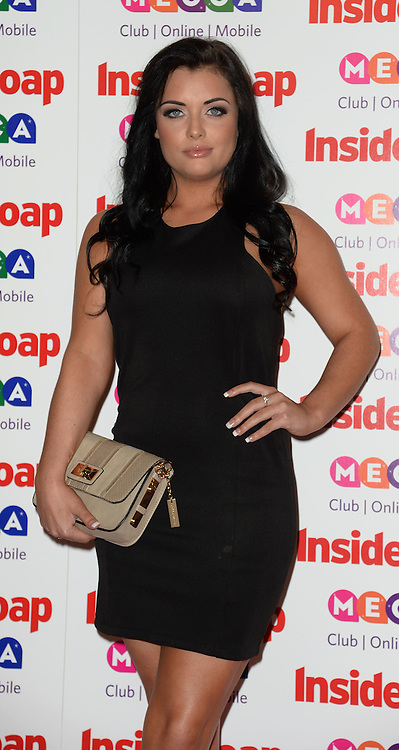 Inside Soap Awards.<br /> Shona McGarty arrives for the Inside Soap Awards, Ministry of Sound, London, United Kingdom,<br /> Monday, 21st October 2013. Picture by Andrew Parsons / i-Images