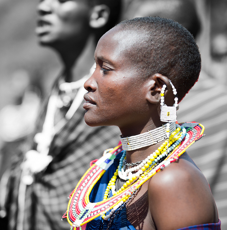 Maasai woman profile closeup