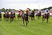 FRANCIS XAVIER (6) ridden by Clifford Lee and trained by Kevin Frost winning The Hanson Springs Stakes over 1m 2f (£19,000)during the Newby and the Press Family Raceday at York Racecourse, York, United Kingdom on 9 September 2018. Picture by Mick Atkins.