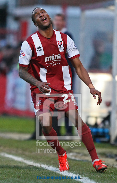 Picture by Mark Hawkins/Focus Images Ltd 07949 023795<br /> 29/12/2013<br /> Craig Braham-Barrett of Cheltenham Town during the Sky Bet League 2 match against Mansfield Town at The Abbey Business Stadium, Cheltenham.