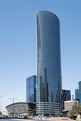 Office tower headquarters building of Qatar Gas company in Doha Qatar