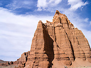 The Temple of the Moon (foreground) and the Temple of the Sun (background), Capitol Reef National Park, Utah.