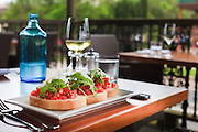 Bruschetta, Alfresco Dining, Morpeth, NSW, Australia.