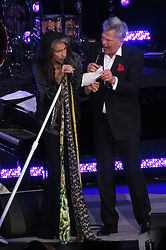 EXCLUSIVE: Steven Tyler and Reba McEntire perform together at the David Foster Foundation Gala in Canada. Rogers Arena in downtown, Vancouver was sold out as Hollywood stars including Oprah,, Steven Tyler, Dr.Phil, Andre Agassi, Stepahie Graf attended the David Foster Foundation 30th Anniversary Miracle Gala & Concert on Saturday night. The event raised over $10 Million which will go to families whose children are undergoing pediatric organ transplants. 21 Oct 2017 Pictured: Steven Tyler, David Foster. Photo credit: MEGA TheMegaAgency.com +1 888 505 6342