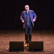 Norman Lovett, actor and comedian performing at the #KeepCorbyn, part of the #JC4PM tour a fringe event orgainised as part of the TUC 2016 by PCS. Brighton, UK.