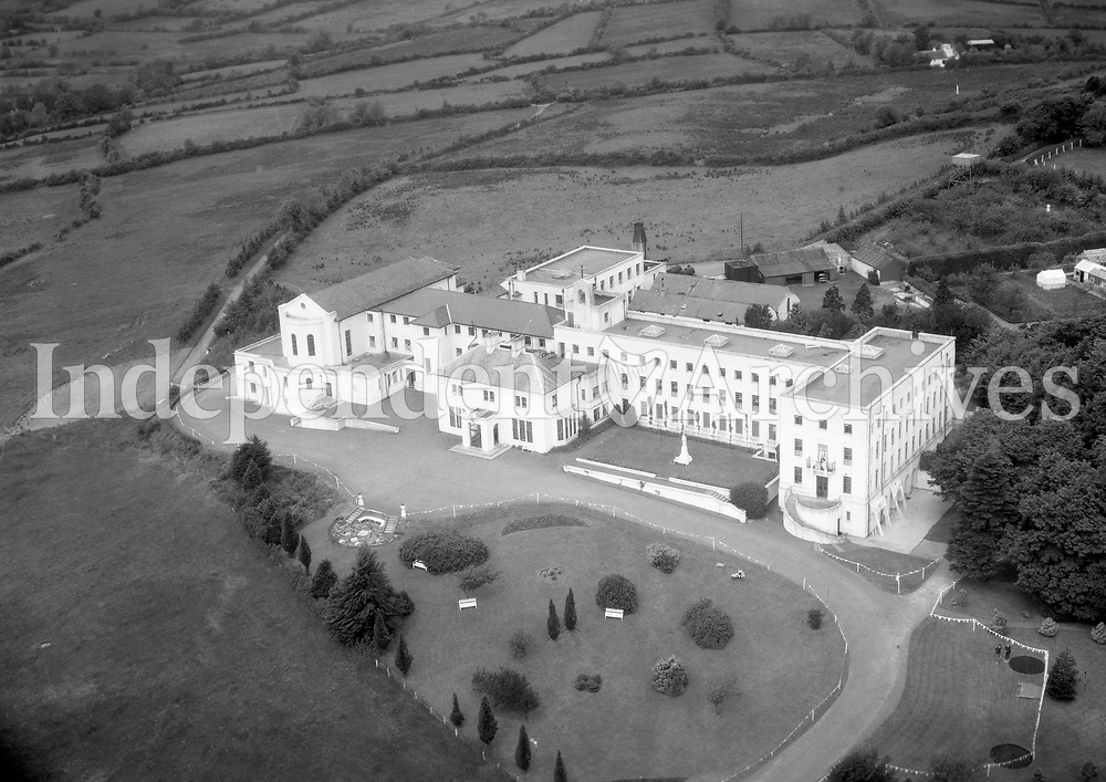 A240 Killeshandra.   16/12/55. (Part of the Independent Newspapers Ireland/NLI collection.)<br /> <br /> <br /> These aerial views of Ireland from the Morgan Collection were taken during the mid-1950's, comprising medium and low altitude black-and-white birds-eye views of places and events, many of which were commissioned by clients. From 1951 to 1958 a different aerial picture was published each Friday in the Irish Independent in a series called, 'Views from the Air'.