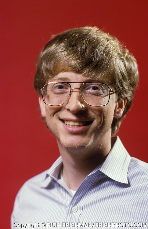 Portrait of a young Bill Gates, Microsoft chairman and cofounder, in 1985..