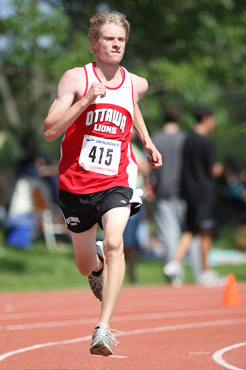(Toronto, Ontario---2 August 2008)  Andrew Towle competing in the 800m at the 2008 OTFA Supermeet II, the Bantam, Midget, Youth Track and Field Championships. This image is copyright Sean W. Burges, and the photographer can be contacted at www.msievents.com.