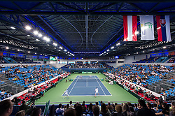 05.04.2014, Aegon Arena, Bratislava, SVK, ITF, Davis Cup, Slowakei vs Oesterreich, 2. Runde, Europa-Afrika-Zone I, im Bild Übersicht Stadion // Übersicht Stadion during the 2nd round of Europe Africa zone one of ITF Davis Cup between Slovakia and Austria at the Aegon Arena in Bratislava, Slovakia on 2014/04/05. EXPA Pictures © 2014, PhotoCredit: EXPA/ Michael Gruber