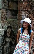 Tourist at Angkor