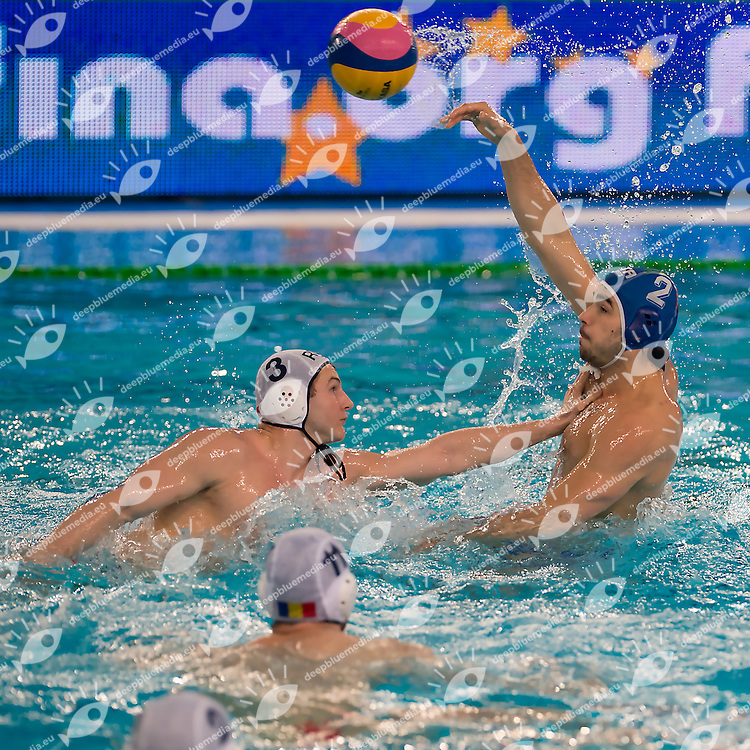 2 Francesco DI FULVIO ITA<br /> FINA Men's Water Polo Olympic Games Qualifications Tournament 2016<br /> quarter final<br /> Romania ROU (White) Vs Italy ITA (Blue)<br /> Trieste, Italy - Swimming Pool Bruno Bianchi<br /> Day 06  08-04-2016<br /> Photo G.Scala/Insidefoto/Deepbluemedia
