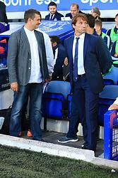 17th August 2017 - UEFA Europa League - Play-Off (1st Leg) - Everton v Hajduk Split - Hajduk coach Joan Carrillo (R) - Photo: Simon Stacpoole / Offside.