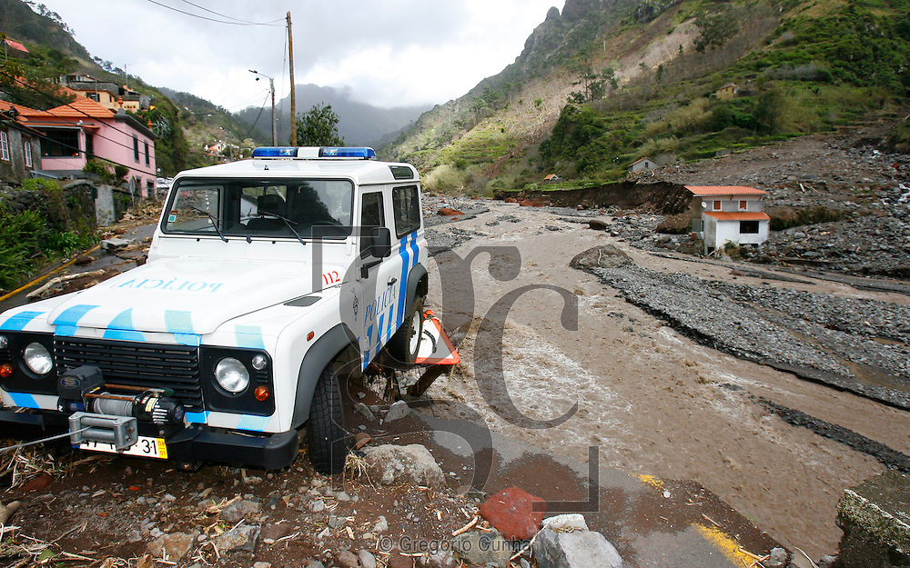 Heavy rains and strong winds hit Madeira Island provoking landslides and floods that killed at least 32 people and injured more than 60, Funchal, Madeira Island, Portugal, 20 February 2010. .Ribeira Brava, Serra de Agua.Photo /Gregorio Cunha .Temporal na Ilha da Madeira.Foto Gregorio Cunha
