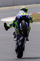 Valentino Rossi of Italy and Movistar Yamaha MotoGP rides during free practice for the MotoGP of Catalunya at Circuit de Catalunya on June 9, 2017 in Montmelo, Spain.(ALTERPHOTOS/Rodrigo Jimenez)