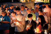 Several people came out to the prayer and candle light vigil Sunday night on the lawn of the Blount County courthouse for the dallas police officers that lost their lives last week.Joy Kimbrough | The Daily Times